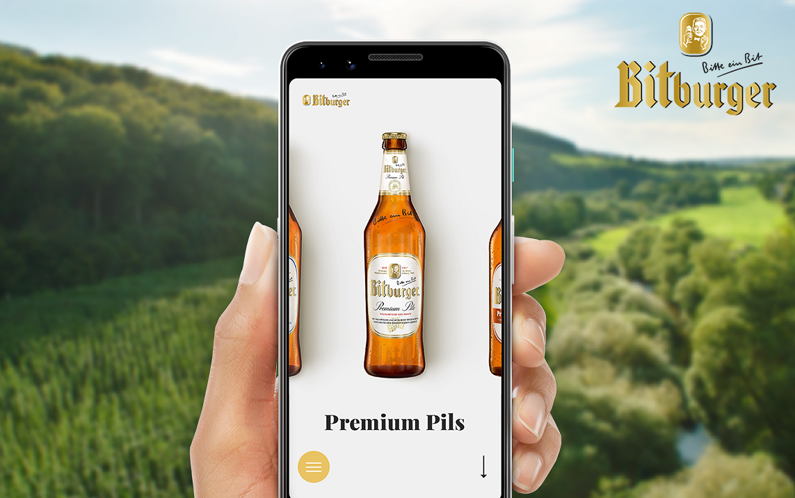 Bitburger website relaunch